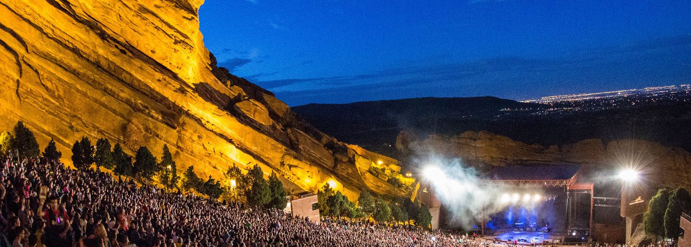Concert at Red Rocks Amphitheatre in Colorado